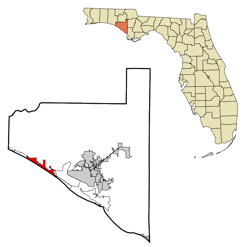 map of florida beaches on the gulf. Panama City Beach Map