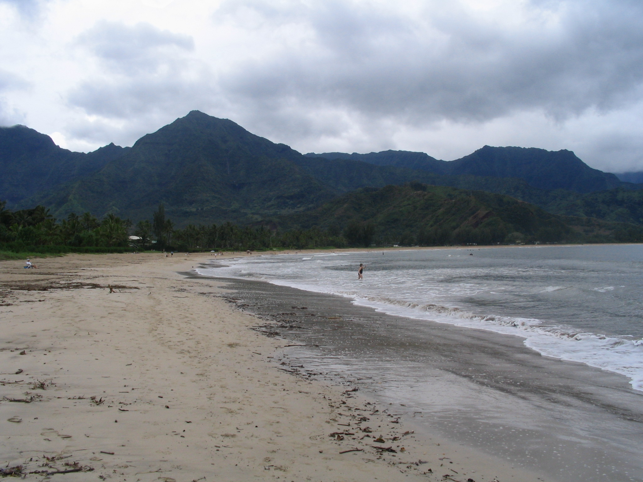 The beach at Hanalei Bay, Kauai, HI: www.worldsbestbeachtowns.com/beachtowns/hanalei-hawaiian+islands+...
